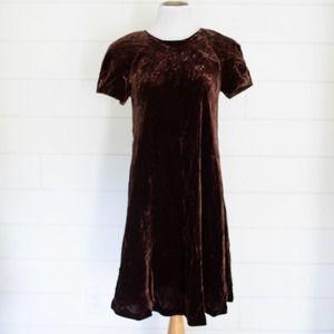 VINTAGE 90s Liz Claiborne Crushed Velvet Dress